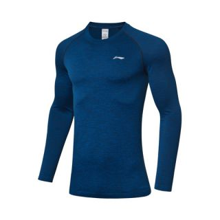 Li-Ning Men's Long Sleeve Slim Fit Comfortable Running Tee Shirts