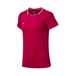 Li-Ning 2019 Spring China Women's National Badminton Team Premium Tee Shirts - Red