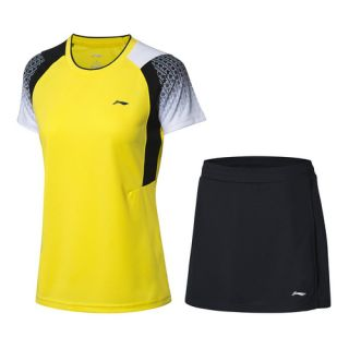 Li-Ning Women's Badminton Game Suit - Yellow/Black
