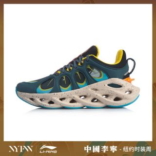 Li Ning Arc ACE Men's 2019 NYFW Cushion Running Shoes - Blue/Orange/Yellow