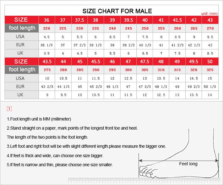 mens shoes size