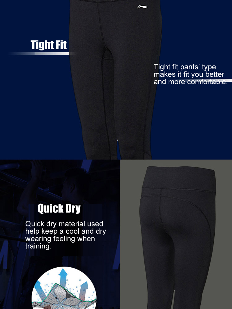 Li-Ning Training Womens Skinny Compression Legging Tights
