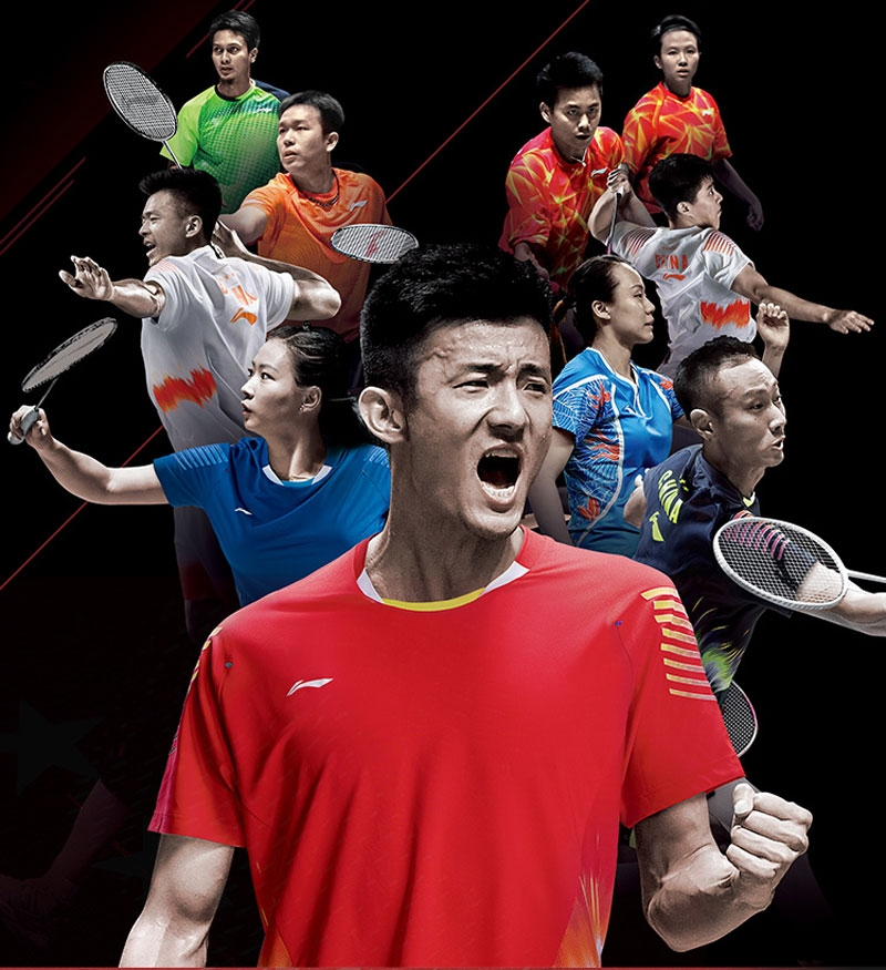 Li-Ning China Men's National Badminton Team Badminton Tee Shirts
