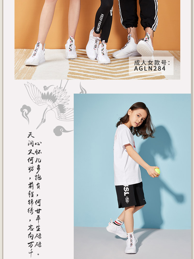 Li Ning Counterflow Pens & Swords Embroidery Kids Lifestyle Shoes