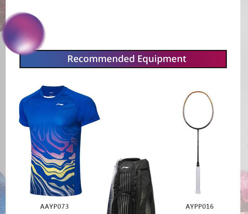 Li-Ning Men's Fast Dry Badminton Game Tee Shirts