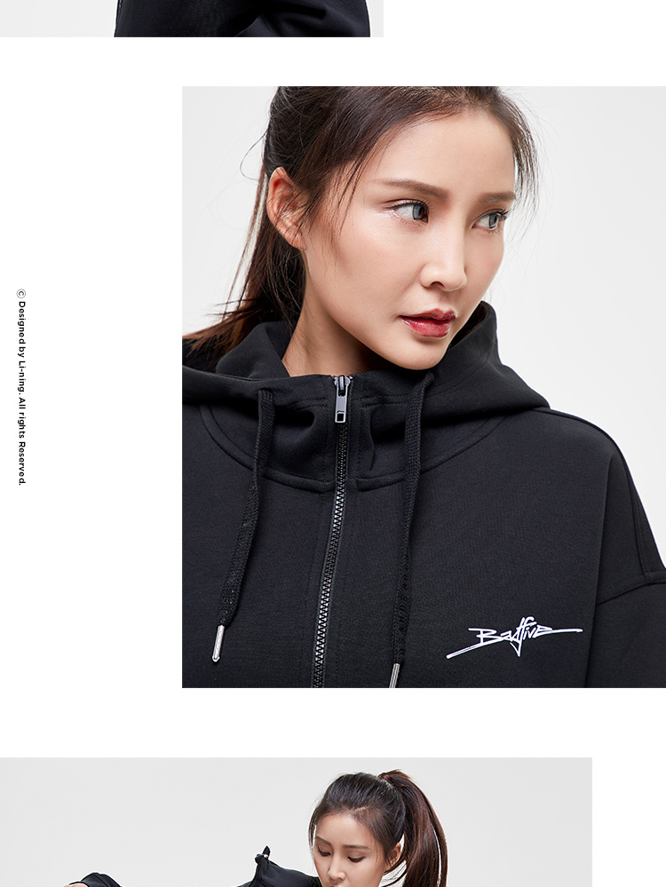 Li-Ning Bad Five Womens Hooded Fleece Sweatshirts